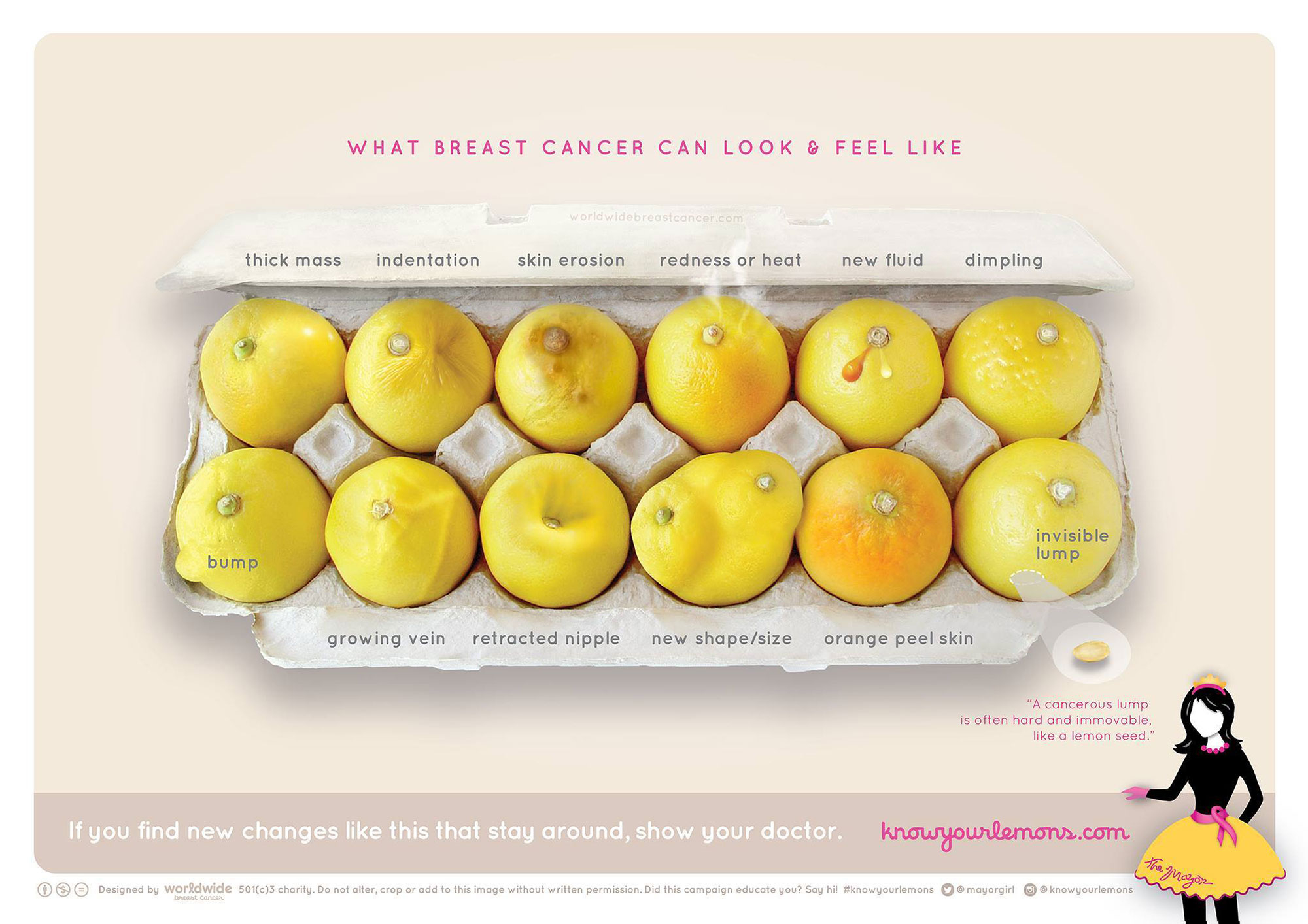 Worldwide Breast CancerWorldwide Breast Cancer's #knowyourlemons campaign