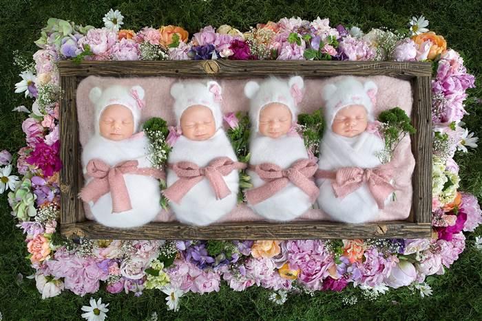 Webb Quadruplet Baby Girls