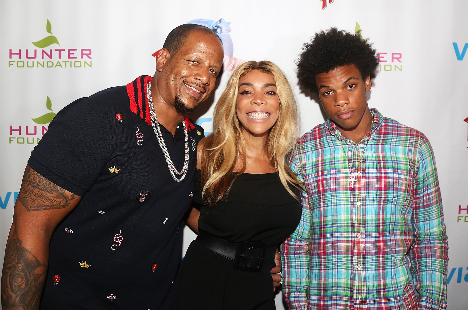 Kevin Hunter, wife Wendy Williams and son Kevin Hunter Jr