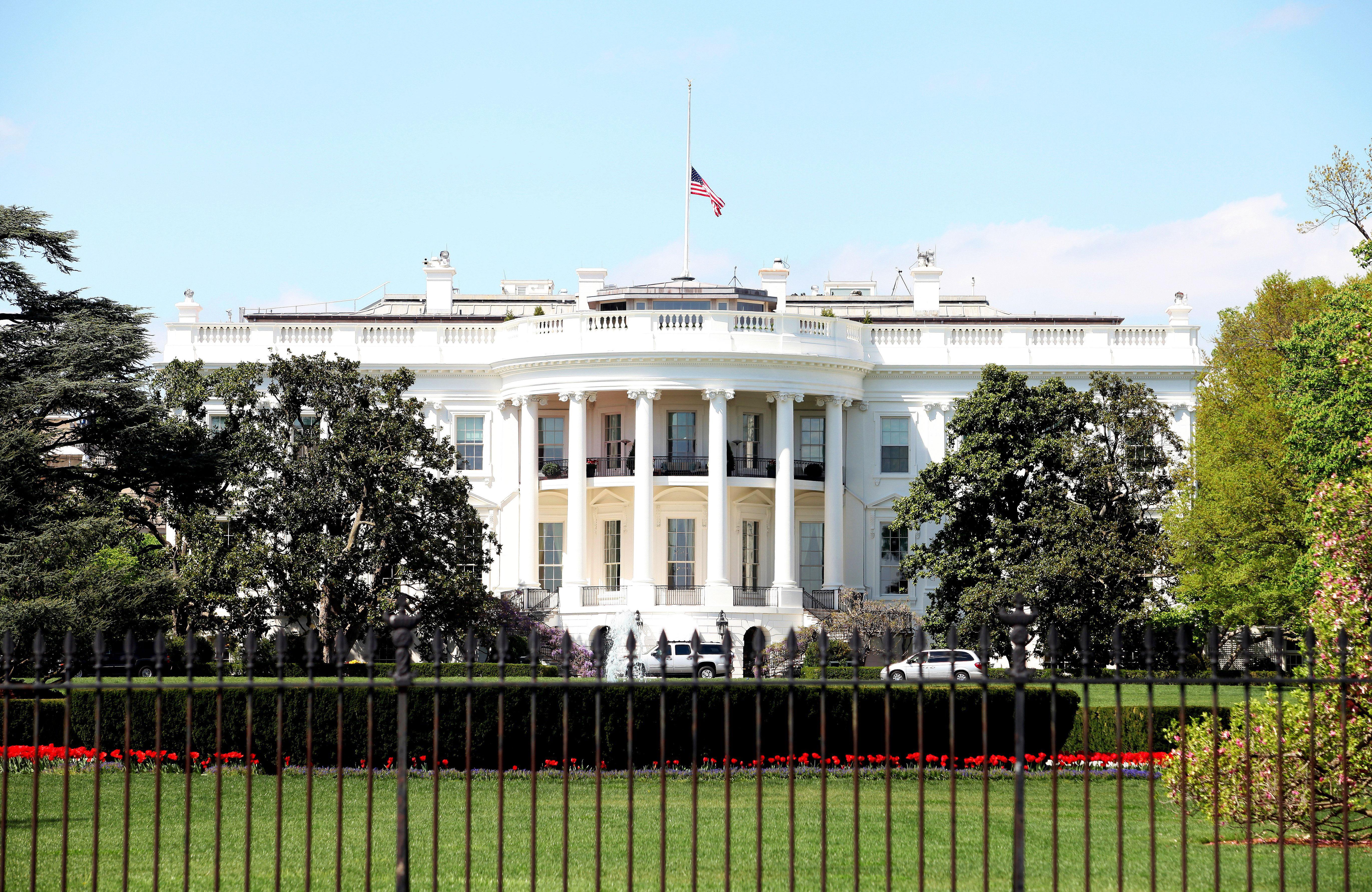 The White House south facade, in Washington, D.C.