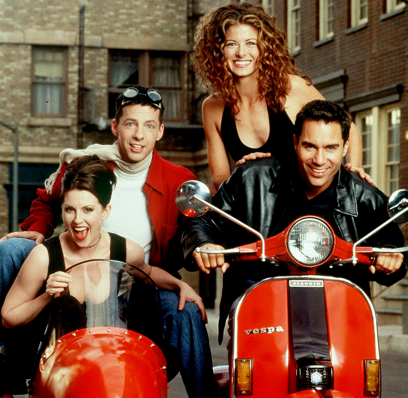 Eric McCormack, Sean Hayes, Meagan Mullally, and Debra Messing star in the NBC series 'Will and Grace.'