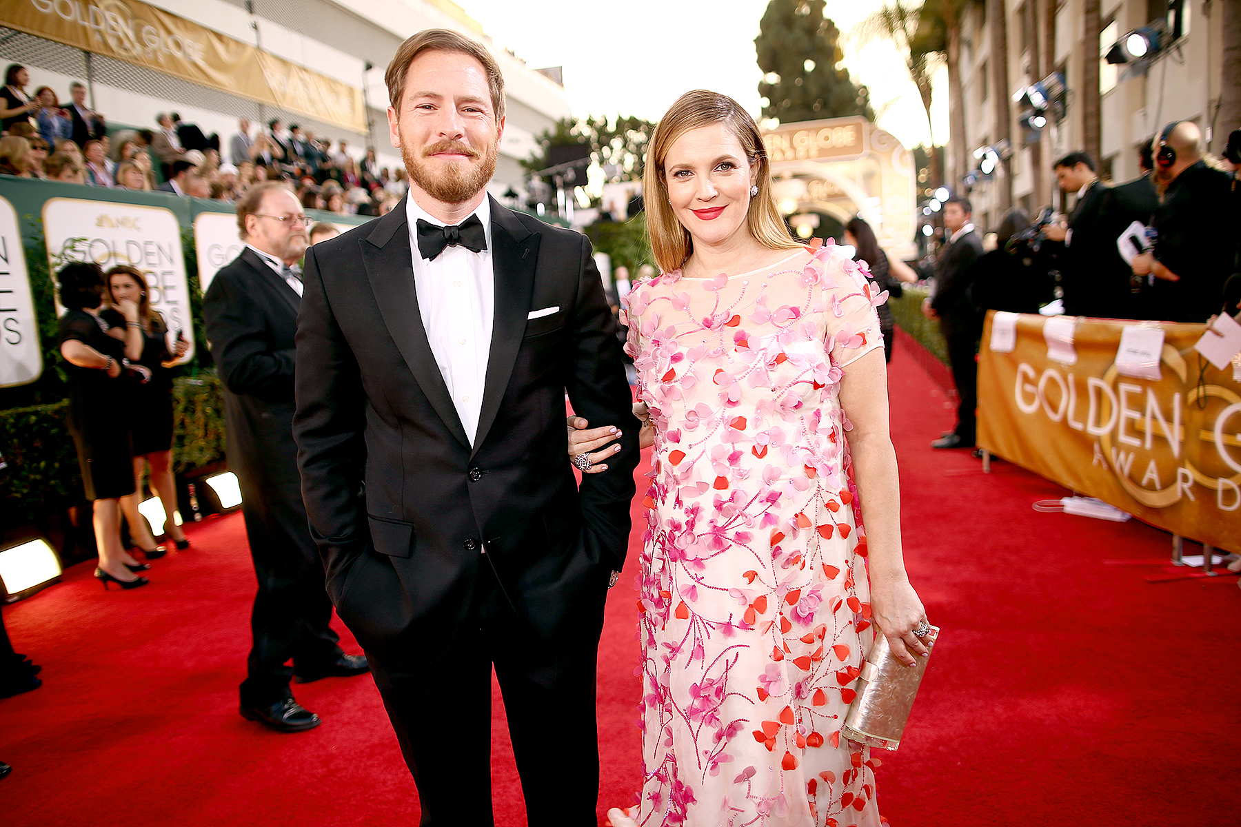 Will Kopelman and Drew Barrymore arrive at the 71st Annual Golden Globe Awards held at the Beverly Hilton Hotel on January 12, 2014.