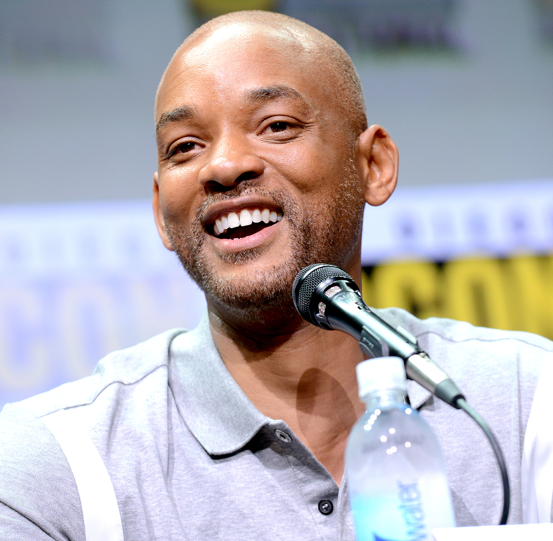 """Will Smith speaks onstage at Netflix Films: """"Bright"""" and """"Death Note"""" panel during Comic-Con International 2017 at San Diego Convention Center on July 20, 2017 in San Diego, California."""