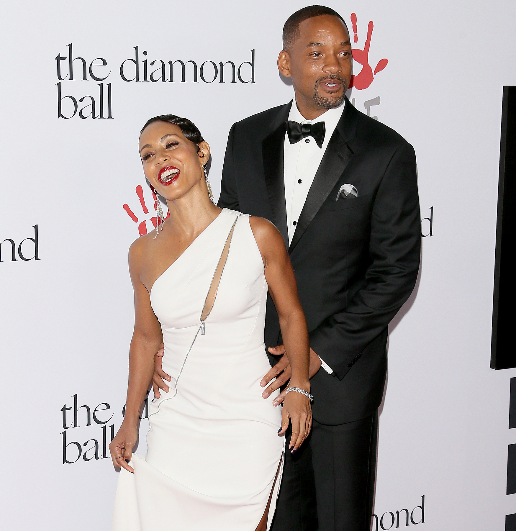 Jada Pinkett Smith and Will Smith attend the 2nd Annual Diamond Ball hosted by Rihanna and the Clara Lionel Foundation at The Barker Hanger on Dec. 10.