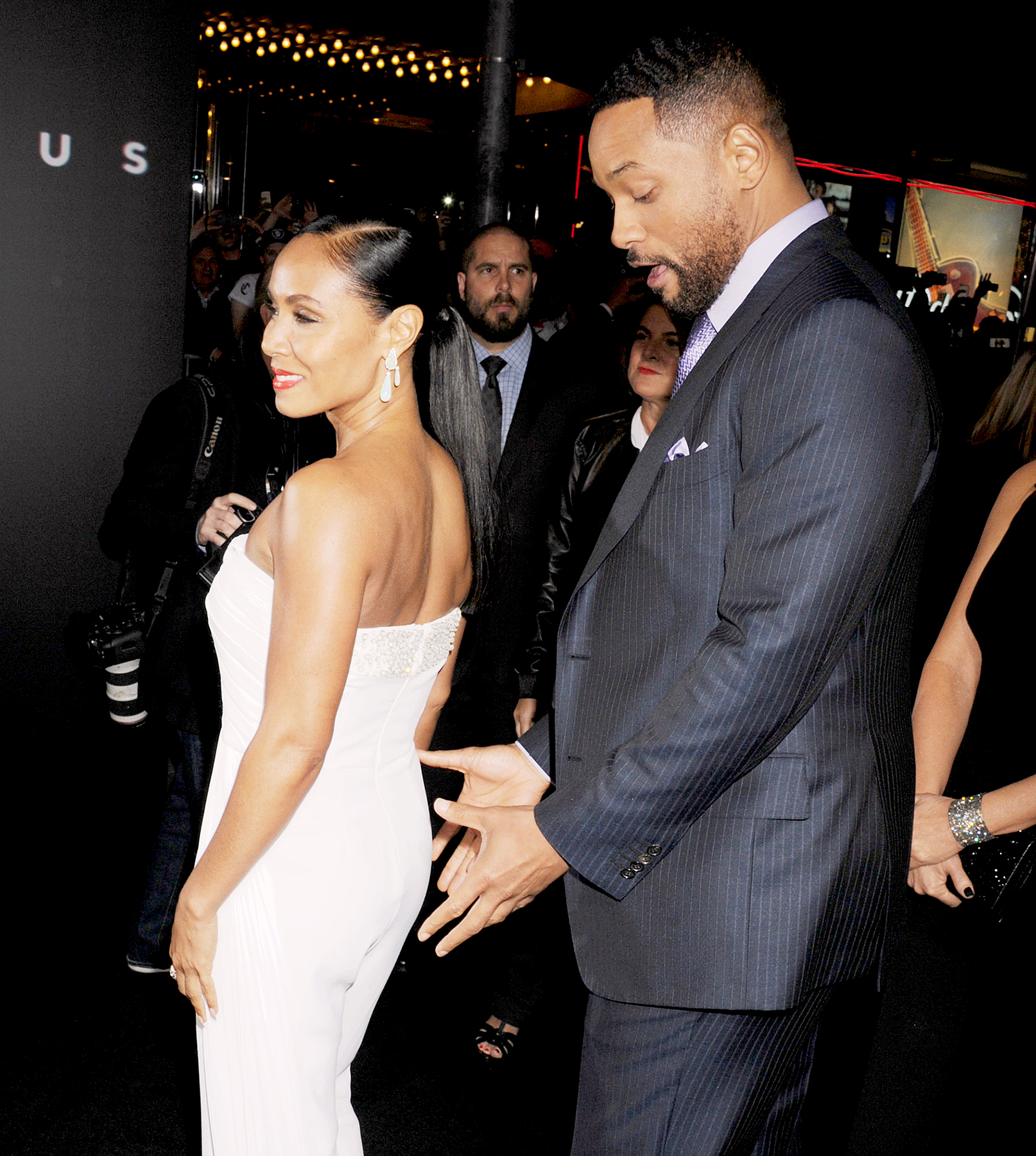 Will Smith and Jada Pinkett Smith attend the Warner Bros. Pictures' 'Focus' premiere at TCL Chinese Theatre on Feb. 24.