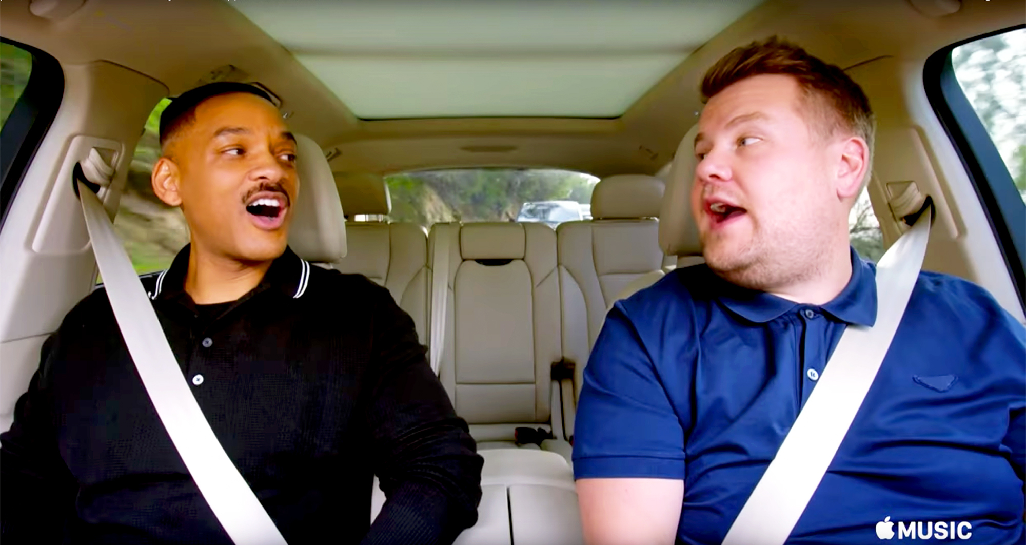 Will Smith and James Corden