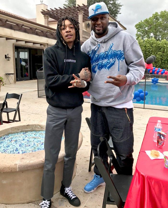 Wiz Khalifa and Lamar Odom