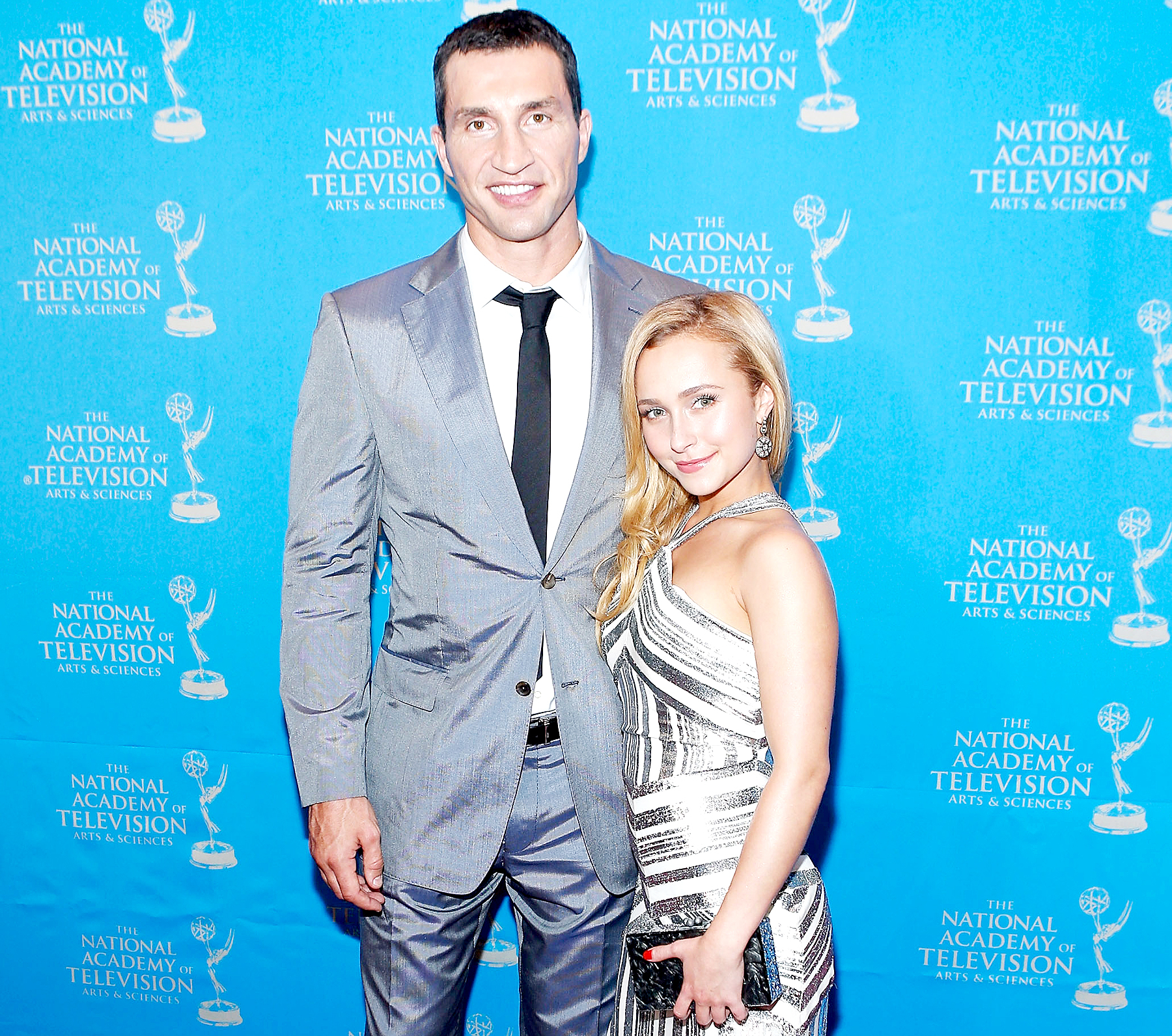 Wladimir Klitschko and Hayden Panettiere attend the 34th Annual Sports Emmy Awards Reception at Frederick P. Rose Hall, Jazz at Lincoln Center on May 7, 2013 in New York City.
