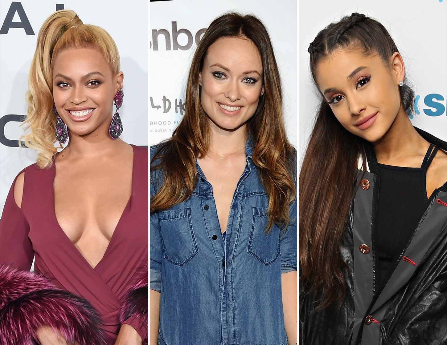 Beyonce, Olivia Wilde and Ariana Grande