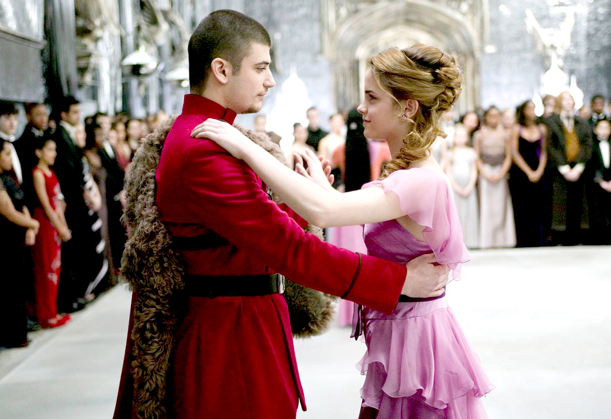 Stanislav Ianevski and Emma Watson in Harry Potter.