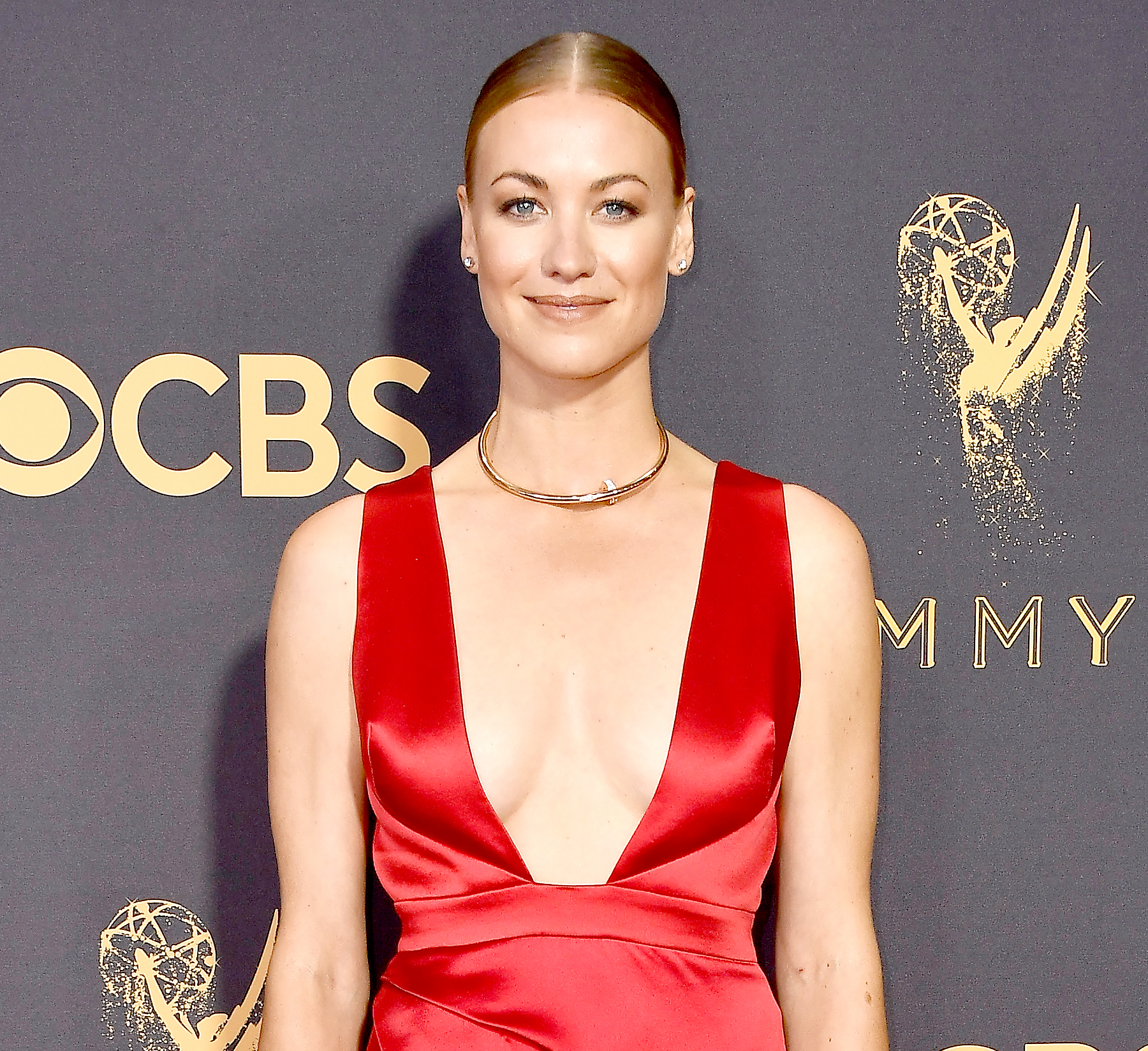 Yvonne Strahovski attends the 69th Annual Primetime Emmy Awards at Microsoft Theater on September 17, 2017 in Los Angeles, California.
