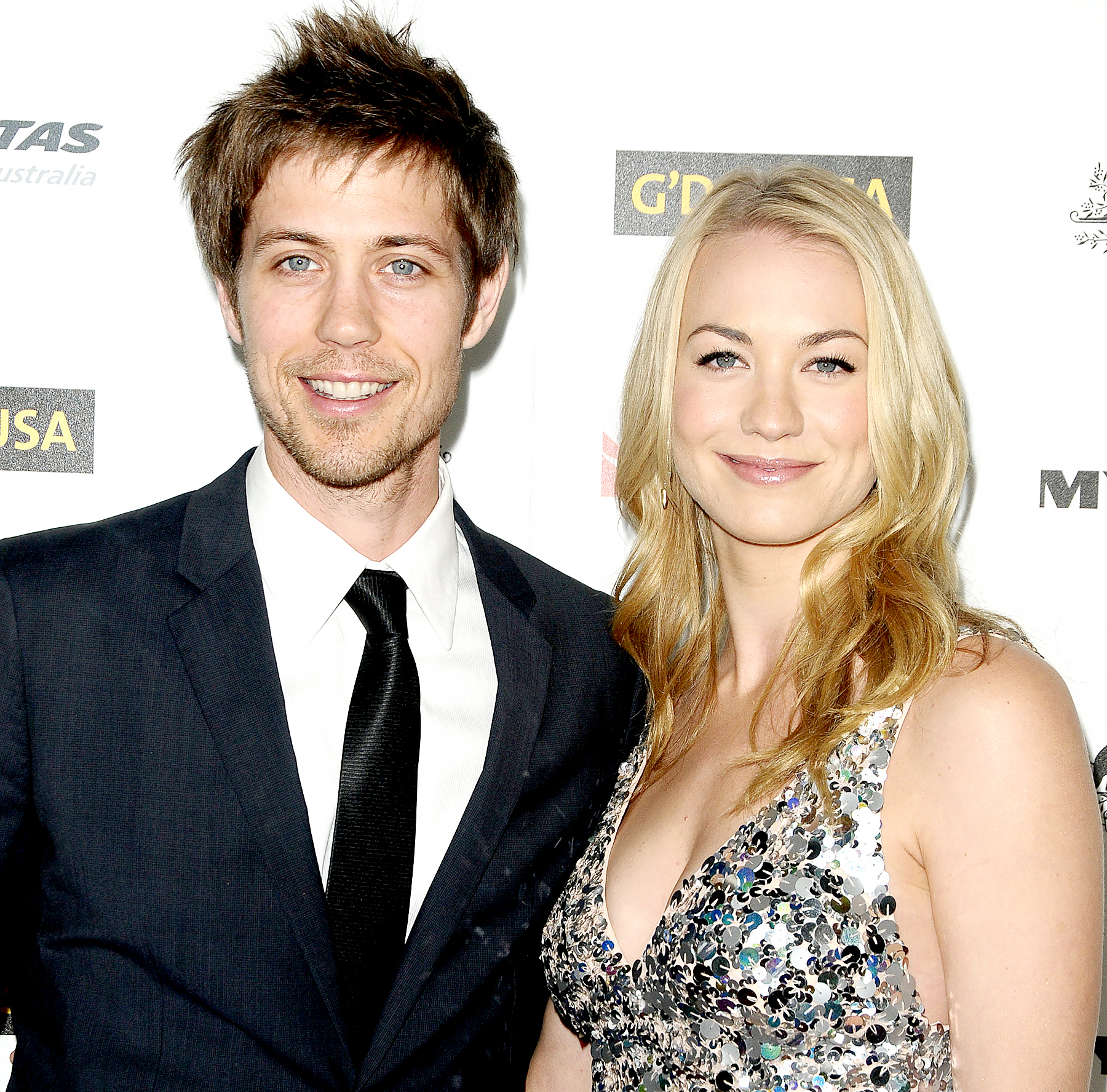 Tim Loden and Yvonne Strahovski attend the 2011 G'Day USA Los Angeles black tie gala at The Hollywood Palladium on January 22, 2011 in Los Angeles, California.