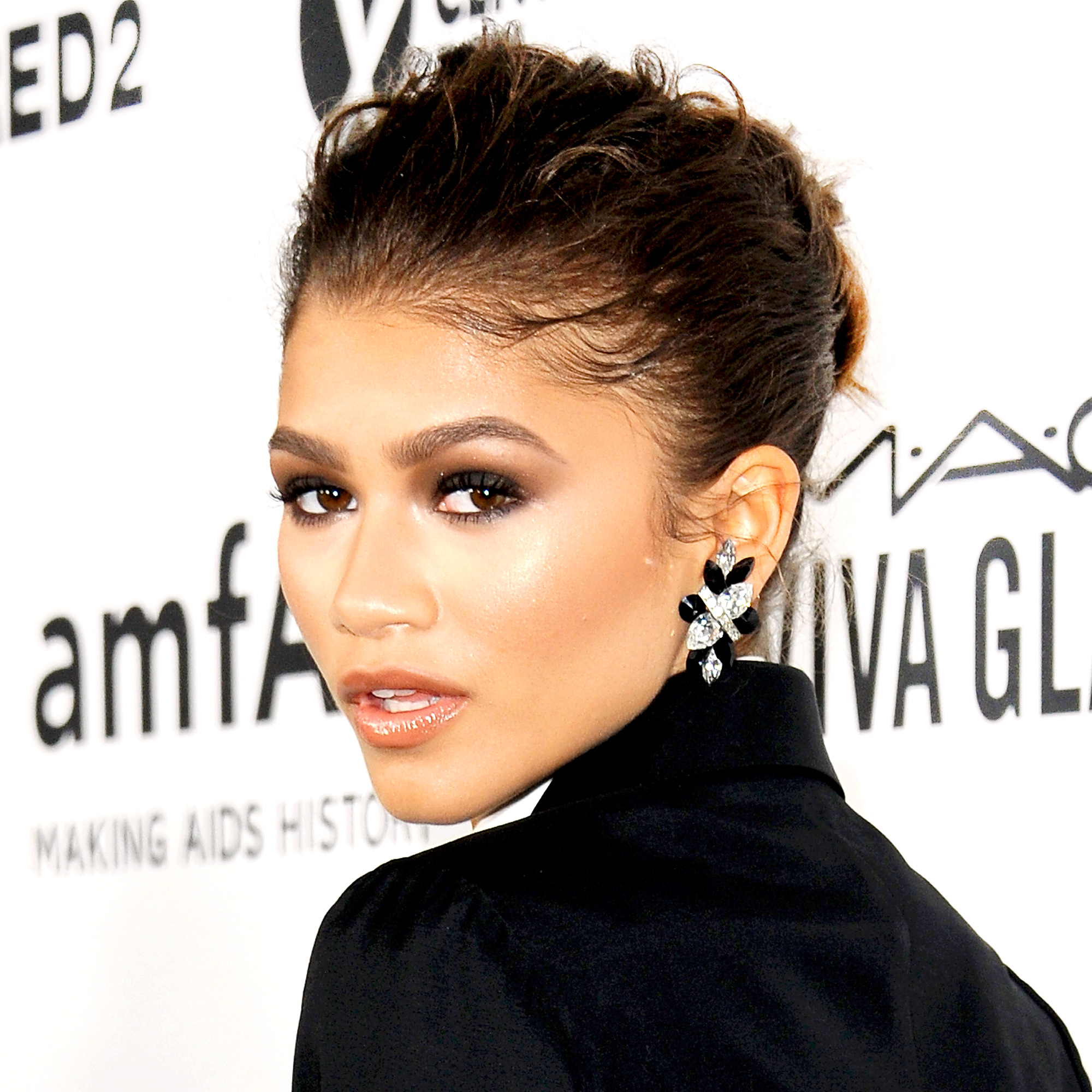 Zendaya arrives at amfAR's Inspiration Gala Los Angeles at Milk Studios on October 29, 2015 in Hollywood, California.