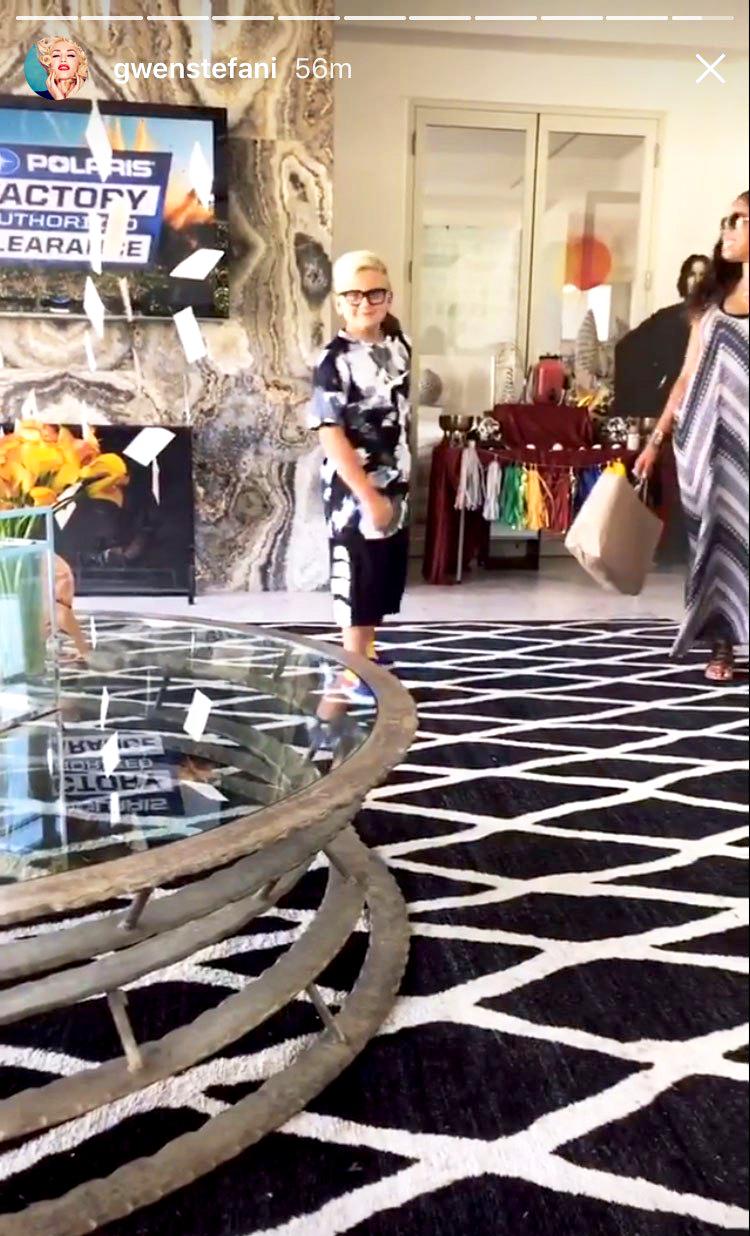 Gwen Stefani Zuma Harry Potter Birthday Party